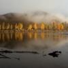 Осень в отражении и тумане