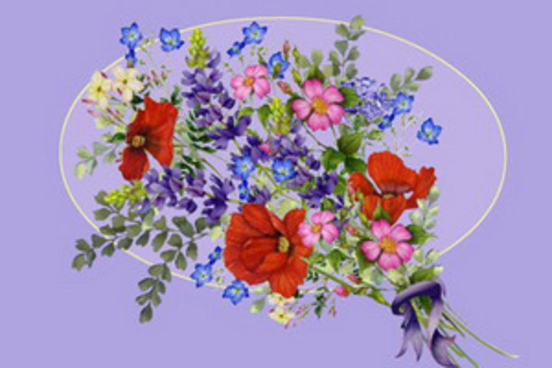Флеш открытка с цветком