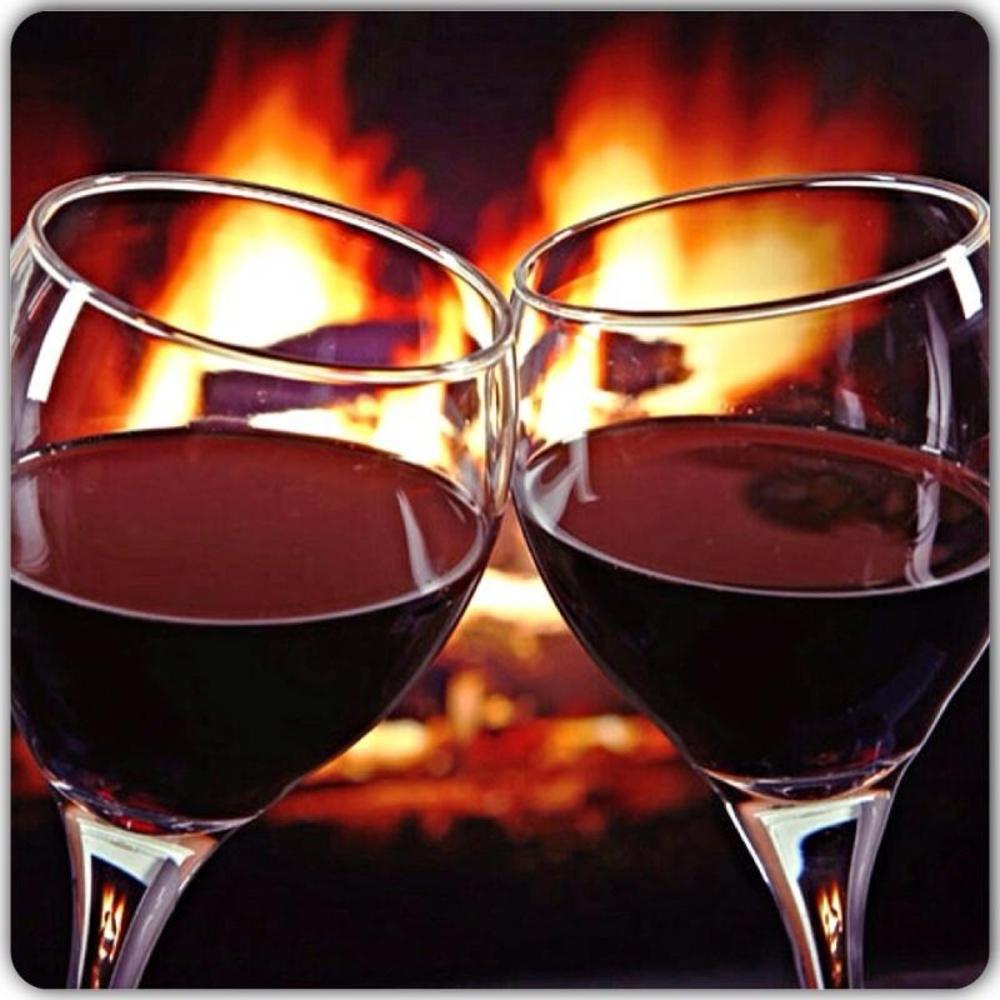 Открытки бокалы вина
