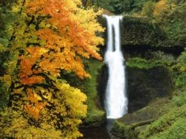 осень.... водопад.....