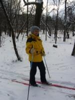 зима, лыжи