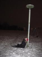 сидение на снегу