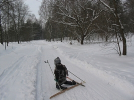 Опять лыжи запутались...