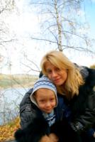 В лесу возле реки Енисей