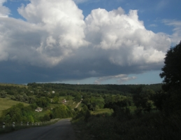 дорога/облака