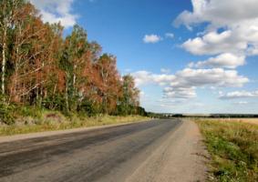 По дороге в деревни