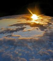 Вид на Землю с Земли.