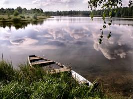 Упало небо в озеро