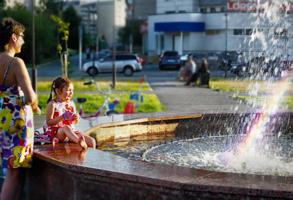 в городском фонтане