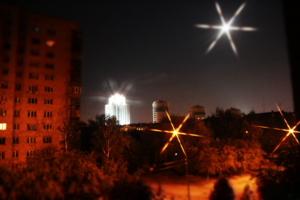 Ночь, улица, луна, фонарь