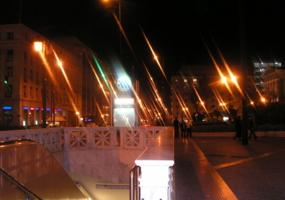 Афины ночью.