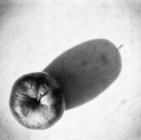 натюрморт с одним яблоком