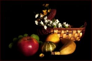 Натюрморт с овощами и фруктами
