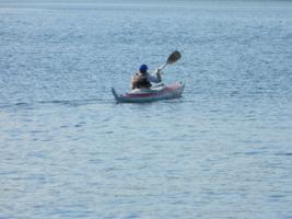 Один в лодке!
