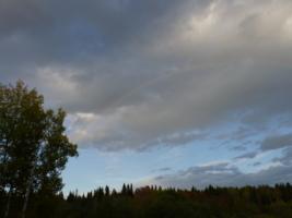 Небо и радуга