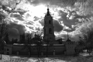Зимнее хмурое небо