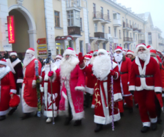 Парад дедов морозов в Чернигове