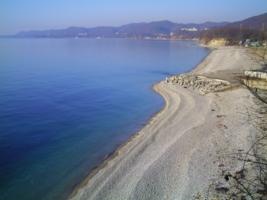 Безмятежный зимний пляж...