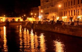 Ночной Петербург.