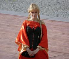 Девушка в ирландском наряде
