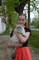"""Юлия с своей кошкой """"Соней"""""""