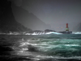 Stormy weather.Entrance to Rio
