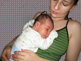 Мадонна со спящим младенцем