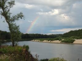 радуга над рекой