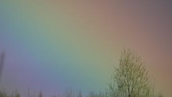 На фоне радуги