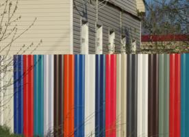 Полосатый забор