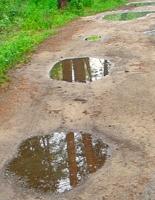 Следы дождя
