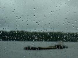 Следы дождя!