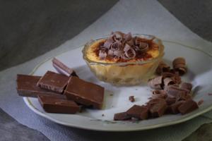 Шоколад и ванильный пудинг