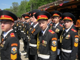 Кадеты на параде Победы