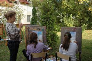 Пленер в художественной школе