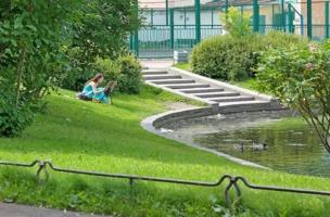 В Юсуповском саду.