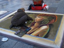 Картина на асфальте