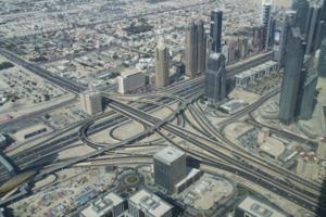 Дубай с высоты Бурдж-Халифа