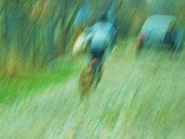 Машина,велосипедист,собака