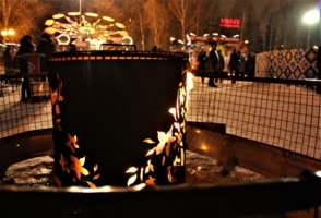 Огни на центральной площади