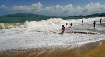 На море сегодня волнение...