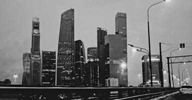 Москва из окна автомобиля