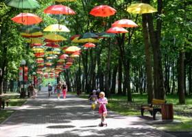 Раскрыты зонтики...
