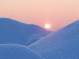 Снежные барханы...