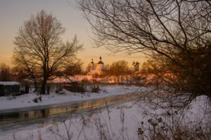 Зимний закат в Образцово