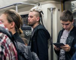 В московском метро.