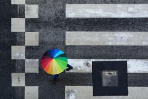 Rain makes the rainbow