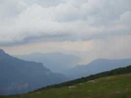 Дождь в горах.