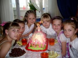 Торт для дочки на 9 лет