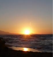 Лучи заходящего солнца